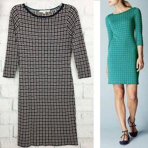 Boden Jacquard Knitted Tunic Dress Navy Gray WW005
